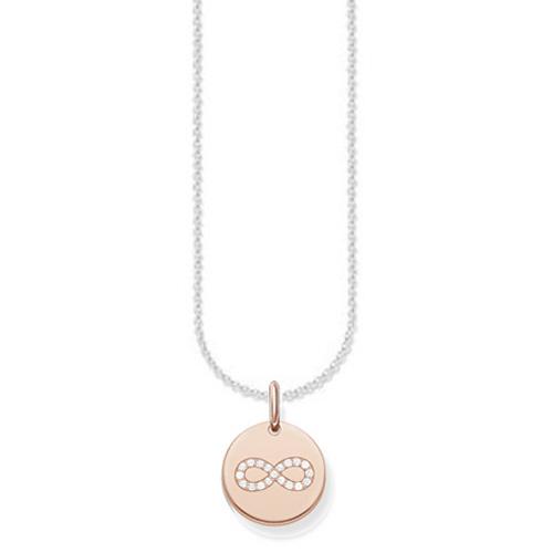 """Náhrdelník """"Nekonečno"""" Thomas Sabo SCKE150168, Love Bridge, 925 Sterling silver, 18k rose gold"""