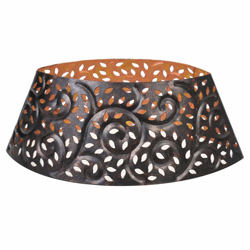 Dekorace na svíčku WoodWick Kovové, barva černá