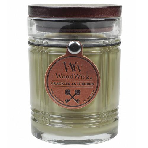 Svíčka skleněná váza WoodWick Vanilka, 226.8 g