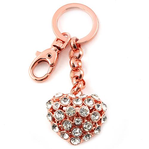 Přívěsek na klíče Top Model Růžové zlato s kamínky