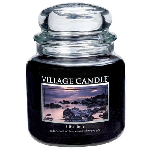 Svíčka ve skleněné dóze Village Candle Tajemný obsidián, 454 g