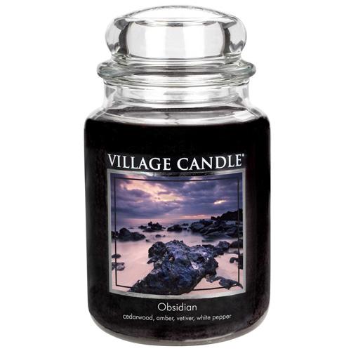 Svíčka ve skleněné dóze Village Candle Tajemný obsidián, 737 g