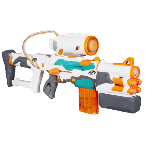 Pistole Hasbro Modulus Tri-Strike, mix nábojů - 15 ks