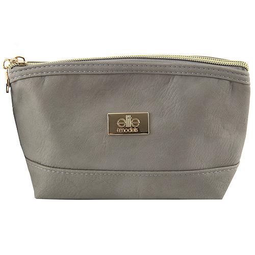 Kosmetická taška Elite Models ASST Šedá se zlatým zipem