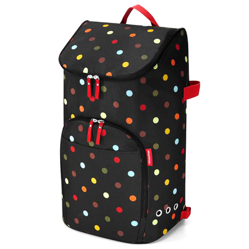 Nákupní batoh Reisenthel Černý s barevnými puntíky   citycruiser bag