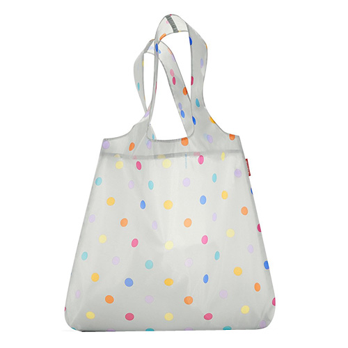 Nákupní taška Reisenthel Světle šedá s puntíky | mini maxi shopper