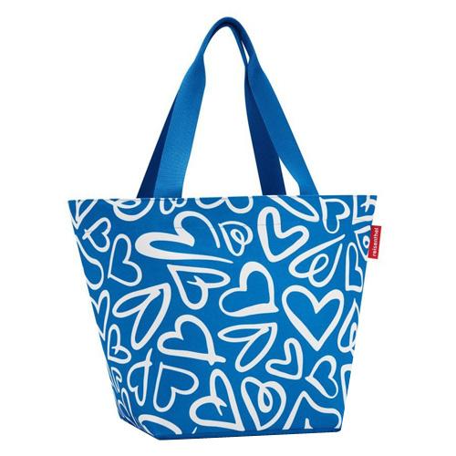 Nákupní taška Reisenthel Modrá se srdíčky, Shopper M
