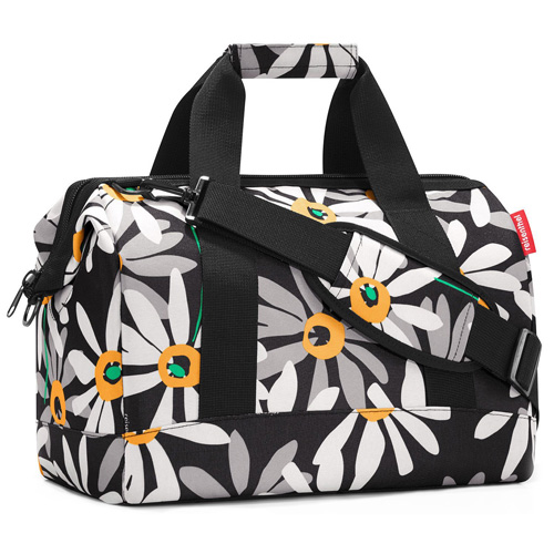 Taška cestovní Reisenthel Černá s motivem květin | Allrounder M