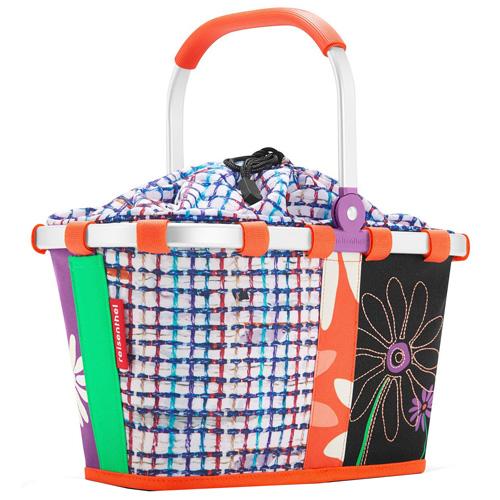 Nákupní košík Reisenthel Květiny s barevnými proužky, carrybag