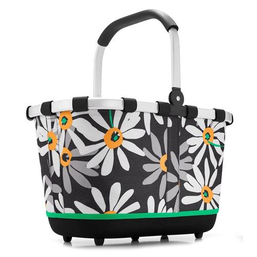 Nákupní košík Reisenthel Černý s motivem květin | carrybag