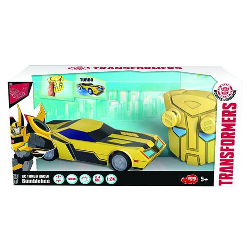Fotografie Transformers na dálkové ovládaní Dickie RC Turbo Racer Bumblebee, 1:24, 18cm, 2kan