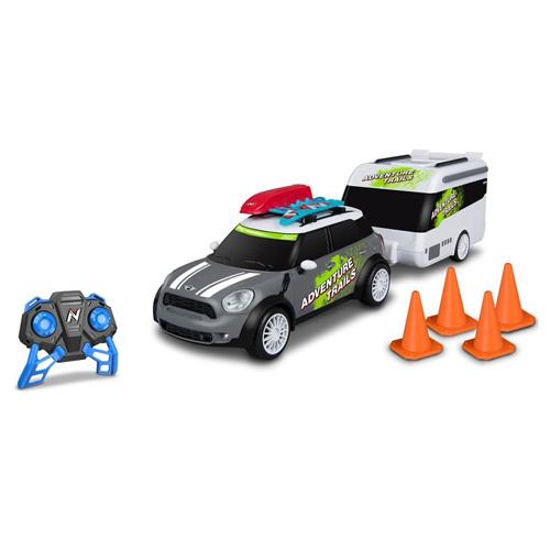 NIkko Mini Countryman s karavanem šedý