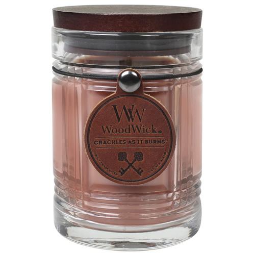 Svíčka skleněná váza WoodWick Přírodní kaňon, 226.8 g