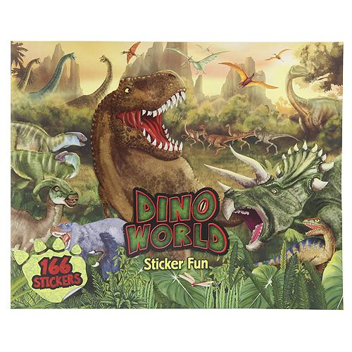 Kreativní sešit Dino World Svět dinosaurů, 166 samolepek