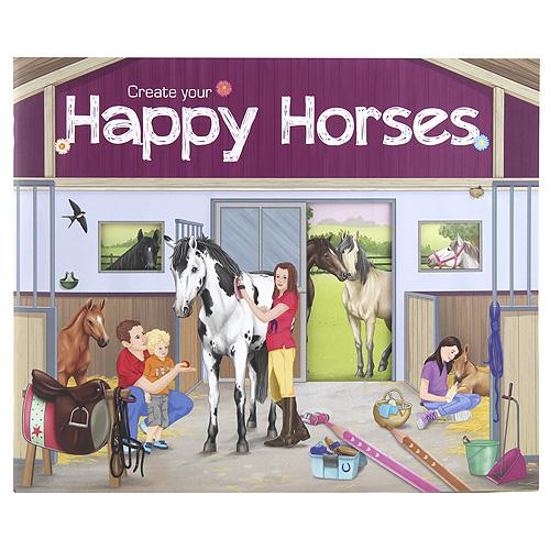 Kreativní sešit Create Your Happy Horses, se samolepkami