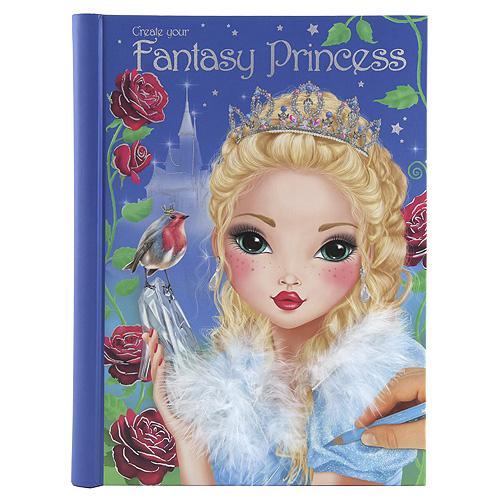 Omalovánky, kreativní sada Create Your Fantasy Princess, se samolepkami