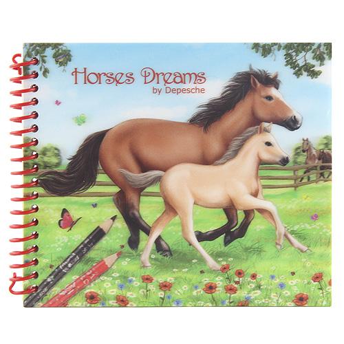 Omalovánky Horses Dreams 3D obal, koně na louce