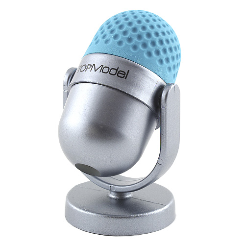 Ořezávátko s gumou Top Model ASST Šedomodrý mikrofon