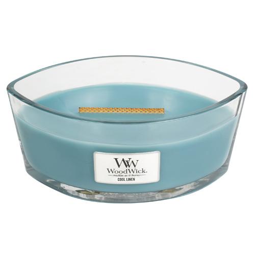 Svíčka dekorativní váza WoodWick Svěží prádlo, 453.6 g