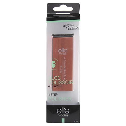 Pilník na nehty a leštění Elite Models ASST 4-stupňový blok, 9cm