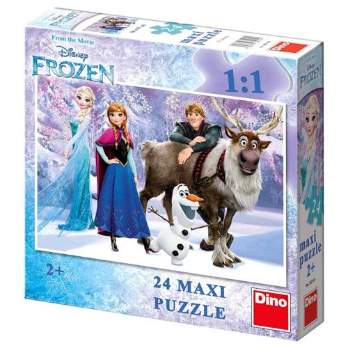 Podlahové puzzle Disney Dino Ledové království: Elsa a přátelé, 24 maxi dílků
