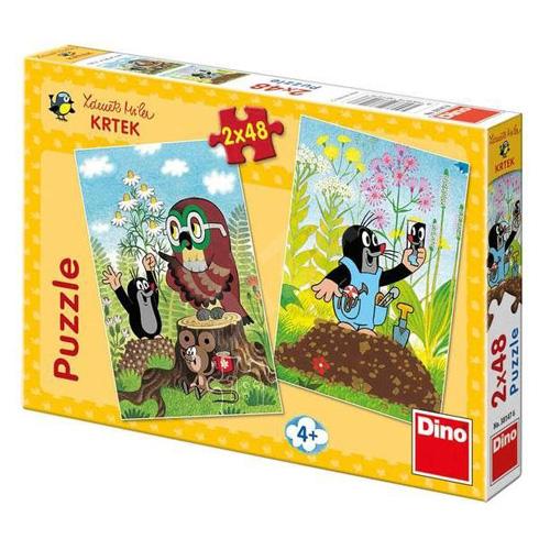 Puzzle Dino Krtek na mýtině, 2 x 48 dílků
