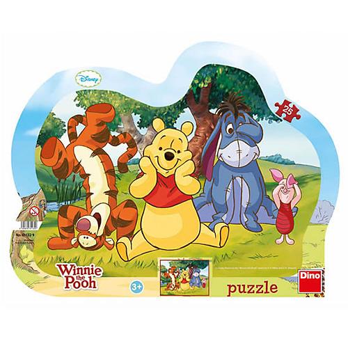 Puzzle Disney Dino Schovávaná s Medvídkem Pú, 25 dílků