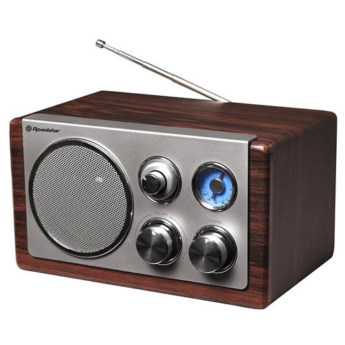 Dřevěné rádio Roadstar HRA-1245N/WD, 16 W
