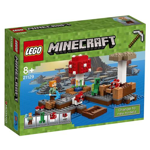 Stavebnice LEGO Minecraft Ostrov hub, 247 dílků