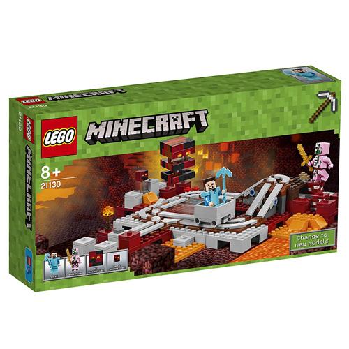 Stavebnice LEGO Minecraft Podzemní železnice, 387 dílků