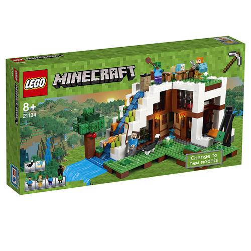 Stavebnice LEGO Minecraft Základna ve vodopádu, 729 dílků