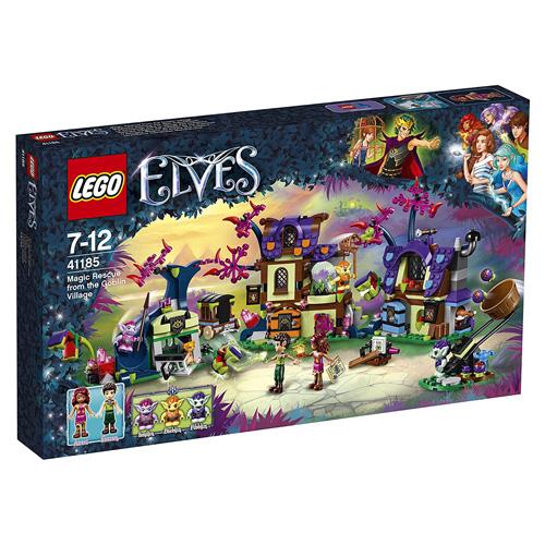 Stavebnice LEGO Elves Kouzelná záchrana ze skřetí vesnice, 637 dílků