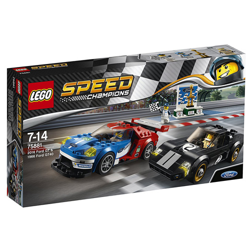 Stavebnice LEGO Speed Champions 2016 Ford GT a 1966 Ford GT40, 366 dílků