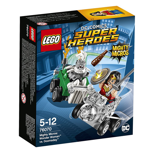 Stavebnice LEGO Super Heroes Mighty Micros: Wonder Woman vs. Doomsday, 85 dílků