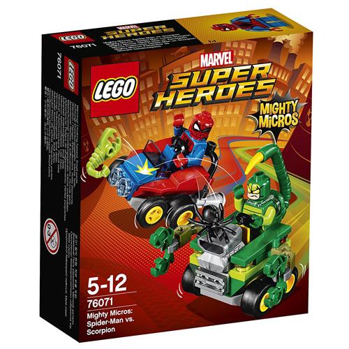 Stavebnice LEGO Super Heroes Mighty Micros: Spiderman vs. Škorpion, 79 dílků