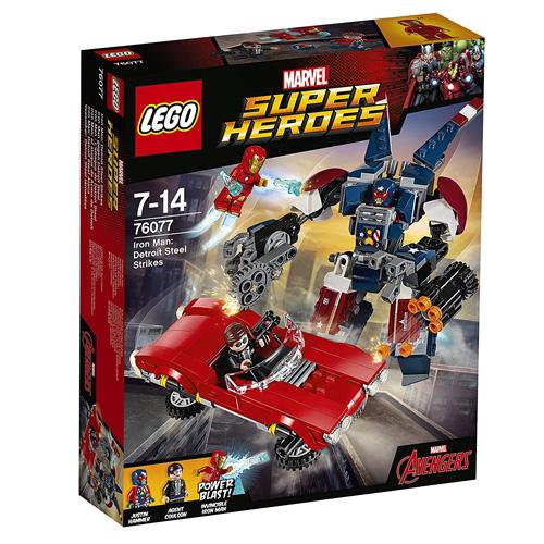 Stavebnice LEGO Super Heroes Iron Man: Robot z detroitských oceláren, 377 dílků