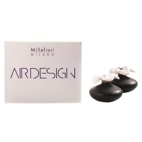 Keramický difuzér Millefiori Milano Air Design, květina mini, 2 ks, černý
