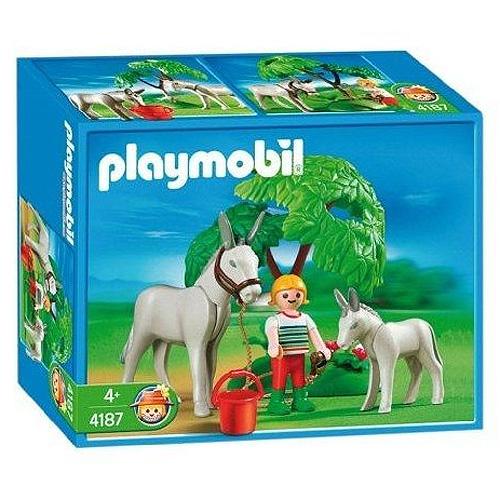 Oslík s mládětem Playmobil
