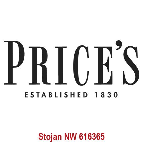 Price's Candles POS | Samolepa Price´s Černé písmo, 337 x 142 mm