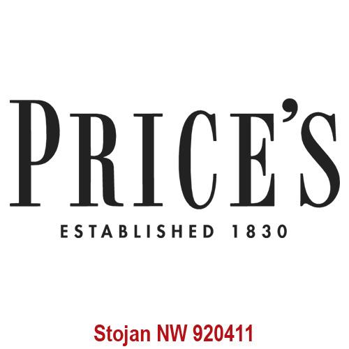 Price's Candles POS | Samolepa Price´s Černé písmo, 225 x 95 mm