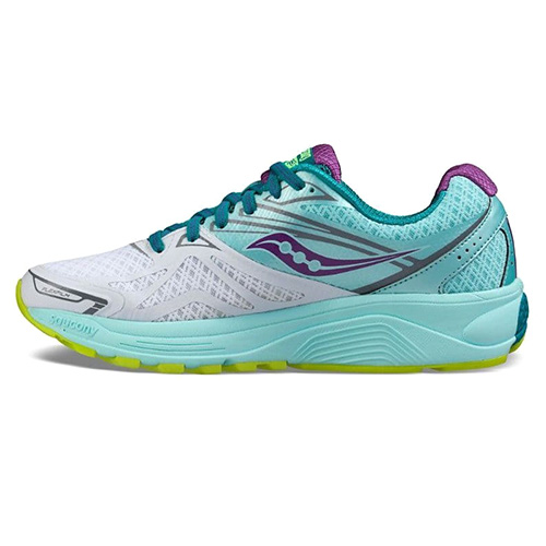 Saucony RIDE 9 RUNNING | WHITE/TEAL/PURPLE | 6