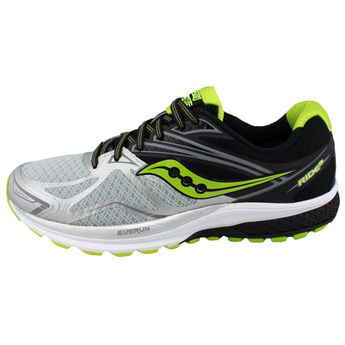 Saucony RIDE 9 RUNNING | SILVER/BLACK/LIME | 8.5