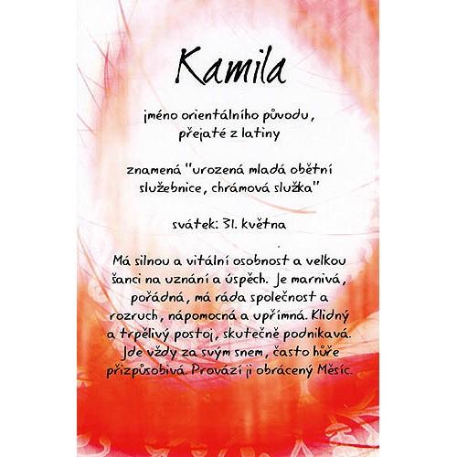 přání k svátku kamila Blahopřání a přání do obálky | Přání Kouzlo tvého jména  přání k svátku kamila